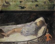 Gauguin, Il piccolo sogna. Studio | Le petit rêve. Étude | The little one dreams, Study