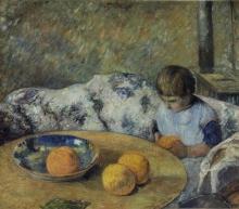 Gauguin, Interno con Aline Gauguin | Interieur avec Aline Gauguin | Interior with Aline Gauguin
