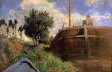 Gauguin, La barca e la chiatta | La barge et le bateau | The barge and the boat