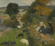 Gauguin, La pastorella bretone   La bergère bretonne   The Breton shepherdess