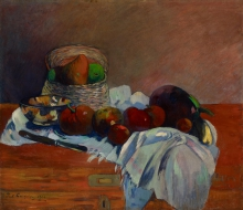 Gauguin, Natura morta con coltello | Nature morte au couteau | Still life with a knife | Stillleben mit Messer