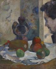 Gauguin, Natura morta con profilo di Laval | Nature morte avec profil de Laval | Still life with profile of Laval