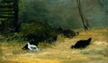 Gauguin, Nel pollaio | Dans le poulailler | In the henhouse | En el gallinero