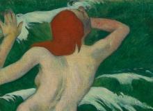 Gauguin, Nelle onde [dettaglio]   Dans les vagues [détail]   In the waves [detail]