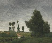 Gauguin, Paesaggio con pioppi | Paysage aux peupliers | Landscape with poplars