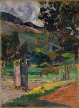 Gauguin, Paesaggio tahitiano   Paysage de Tahiti   Tahitian landscape