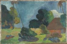 Gauguin, Paesaggio tahitiano | Paysage tahitien | Tahitian landscape