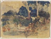 Gauguin, Paesaggio tahitiano [recto] | Paysage de Tahiti | Tahitian landscape