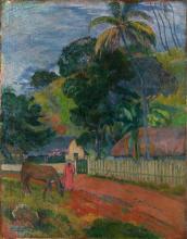 Gauguin, Paesaggio. Il cavallo sulla strada | Paysage. Le cheval sur la route | Landscape. The horse on the road
