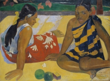 Gauguin, Parau Api | C'è qualcosa di nuovo? | Y at-il quelque chose de nouveau? | Is there anything new? | Gibt´s was Neues?