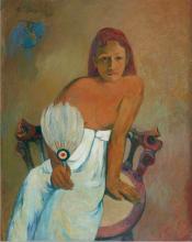 Paul Gauguin, Ragazza con il ventaglio   Jeune fille à l'éventail   The girl with a fan   Mädchen mit Fächer