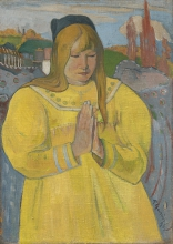 Gauguin, Ragazza cristiana | Jeune fille chrétienne | Young christian girl