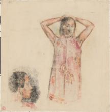 Gauguin, Ragazza tahitiana in pareo rosa | Fille tahitienne en paréo rose | Tahitian girl in pink pareu