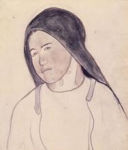 Gauguin, Ritratto di giovane contadina bretone | Tête d'une jeune paysanne bretonne | Head of a Breton peasant girl