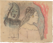 Gauguin, Studio di teste di tahitiane | Étude de têts de tahitiennes | Study of Tahitian heads