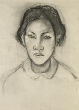 Gauguin, Testa di donna tahitiana | Tête de femme de Tahiti | Head of a Tahitian woman | Cabeza de tahitiana