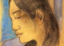 Gauguin, Testa di una donna tahitiana.jpg