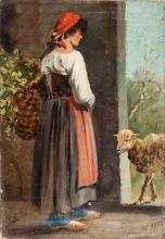 Gelati, Giovane contadina con cesta sulle spalle.jpg