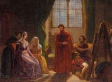 Gelati, Il pittore nello studio mentre ritrae Beatrice.png