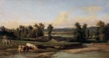 Gelati, Paesaggio con fiume e mucche.png