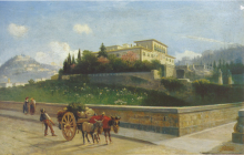 Lorenzo Gelati, Veduta di Fiesole