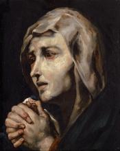Théodore Géricault, Mater dolososa, copia da Ribera | Mater dolorosa, Kopie nach Ribera | Mater dolorosa, copie d'après Ribera | Mater dolorosa, copy after Ribera
