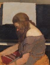 Oscar Ghiglia, Fanciulla al pianoforte | Girl at the piano