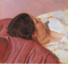 Oscar Ghiglia, La moglie Isa che riposa
