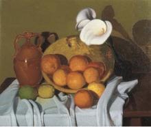 Oscar Ghiglia, Natura morta con calle ed arance