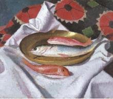 Oscar Ghiglia, Natura morta con triglie