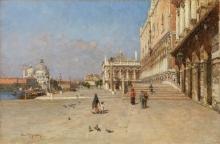 Eugenio Gignous, Ponte della paglia. Venezia