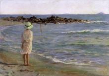 Gioli Francesco, Bambina sulla spiaggia.png