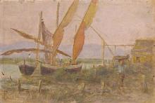 Gioli Francesco, Barche di pescatori con figura.png