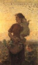 Gioli Francesco, Madre con bambini nella campagna toscana.jpg