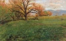 Gioli Francesco, Paesaggio campestre italiano con alberi in autunno.jpg