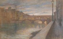 Gioli Francesco, Ponte Vecchio all'imbrunire.jpg