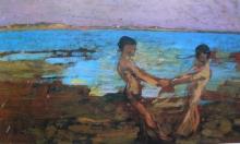 Gioli Francesco, Ragazzi sulla spiaggia.jpg