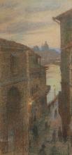Gioli Francesco, Scorcio di Firenze da una via sul Lungarno.jpg