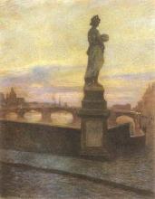 Gioli Francesco, Veduta di Firenze dal ponte Santa Trinita.jpg