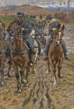 Gioli Luigi, Cavalleria che attraversa un fiume.jpg