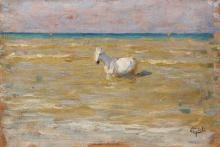 Gioli Luigi, Cavallo in riva al mare.jpg