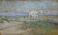 Gioli Luigi, Cavallo sulla spiaggia.jpg