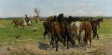 Gioli Luigi, Gruppo di cavalli.jpg
