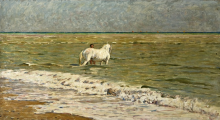 Gioli Luigi, Il bagno del cavallo.png
