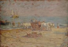 Gioli Luigi, Lavoranti sulla spiaggia di Grottammare.jpg