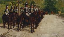 Gioli Luigi, Le guardie a cavallo.png