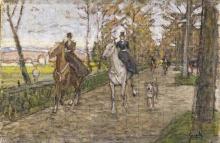 Gioli Luigi, Passeggiata a cavallo nei dintorni di Firenze.jpg