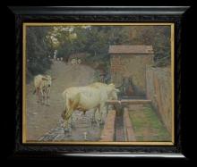 Gioli Luigi, Pastore con mucche [cornice].jpg