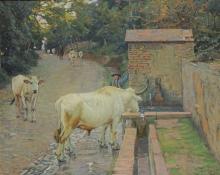Gioli Luigi, Pastore con mucche.jpg