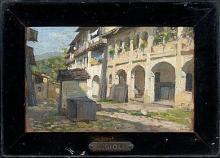 Gioli Luigi, Veduta di una strada di villaggio.png